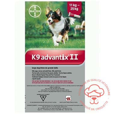 K9 Advantix II chien Grand