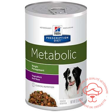 Prescription Diet canine Metabolic Stew bte 12 x 12,5 oz - DrCroquette