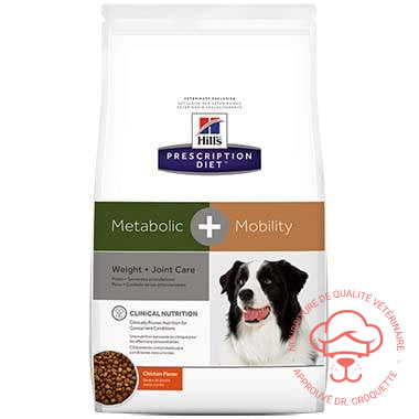 Prescription Diet canine Metabolic + Mobility poulet - DrCroquette