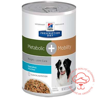 Prescription Diet canine Metabolic+Mobility Stew thon boîte - DrCroquette