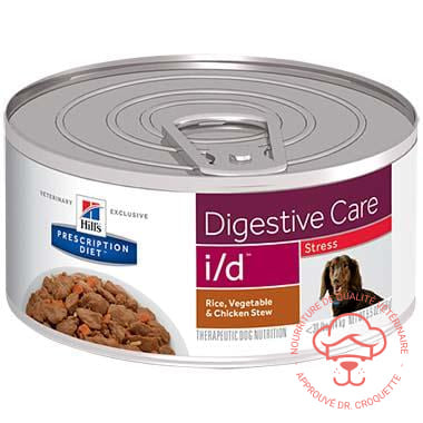 Prescription Diet canine i/d Stress Stew poulet bte 24 x 5,5 oz - DrCroquette