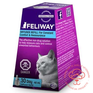 Feliway Classic recharge bout. / 48ml - DrCroquette