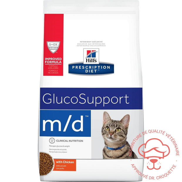 Prescription Diet féline m/d GlucoSupport sac - DrCroquette