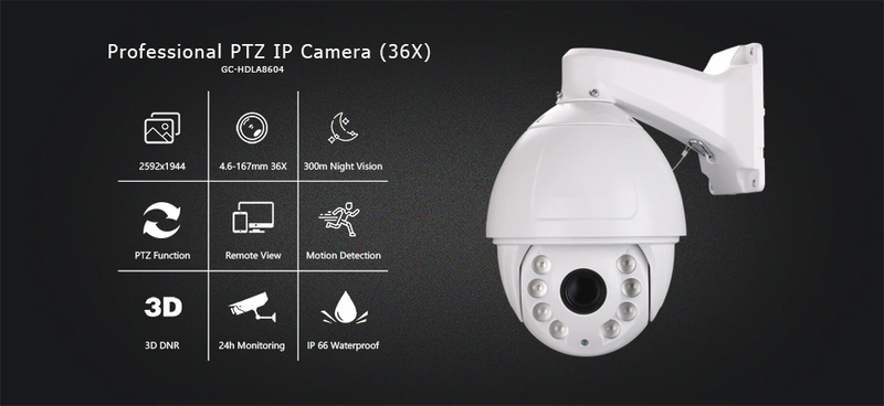 Professional PTZ IP Camera | Outdoor | 36X Optical Zoom | Laser LED