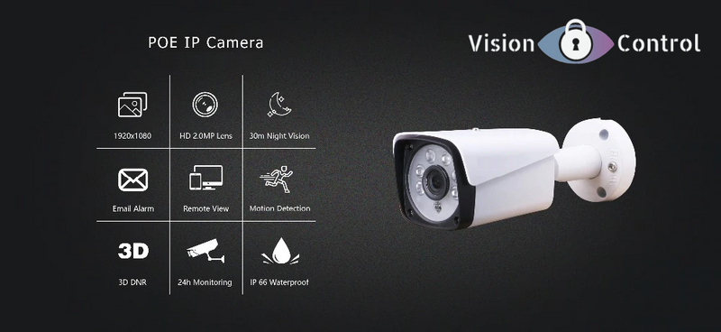 1080P Camera | POE | Outdoor | Waterproof | Infrared Night Vision