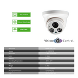 Vision Control ELID4 4CH CCTV Kit | 1080P | POE | Audio | Indoor