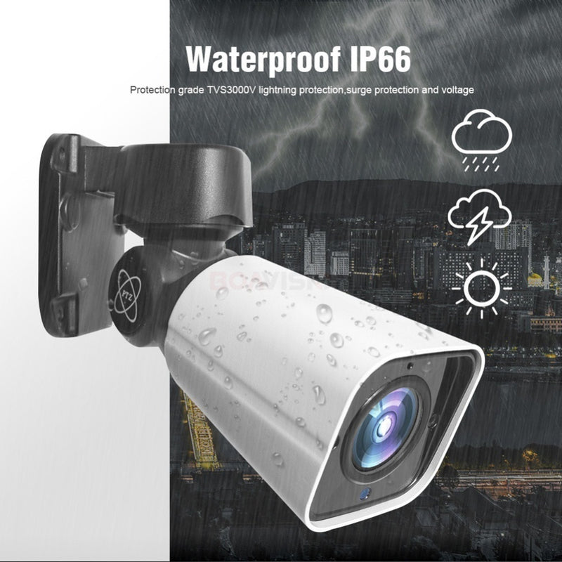 5MP PTZ Camera | Outdoor | 4X Optical Zoom | Waterproof | IR Night Vision