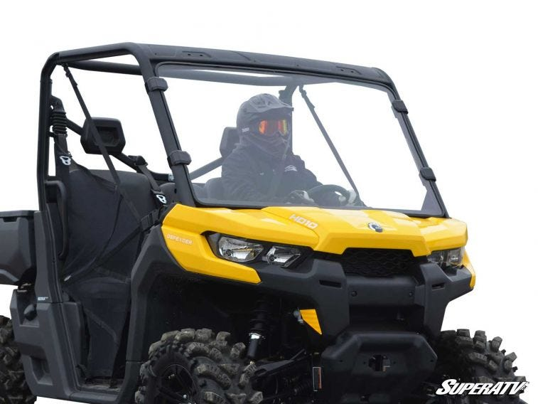 Can-Am Defender Scratch Resistant Full Windshield - Trailsport Motors