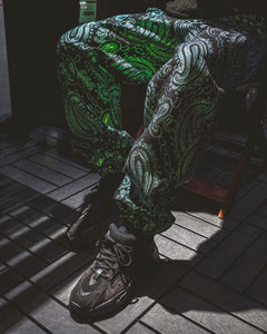 Patterned 'Iridescent Paisley' Pair - [Pairs UK] [jogging bottoms] [ are those pairs] [mike pairs] [sweatpants] [patterned sweatpants] [patterned pants]