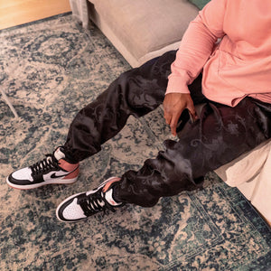 Patterned 'Black Vine' Pair - [Pairs UK] [jogging bottoms] [ are those pairs] [mike pairs] [sweatpants] [patterned sweatpants] [patterned pants]