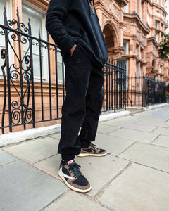 Black Corduroy - [Pairs UK] [jogging bottoms] [ are those pairs] [mike pairs] [sweatpants] [patterned sweatpants] [patterned pants]