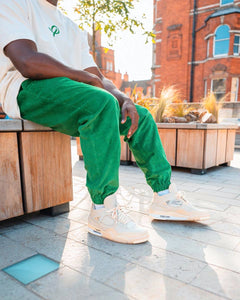 Green Corduroy - [Pairs UK] [jogging bottoms] [ are those pairs] [mike pairs] [sweatpants] [patterned sweatpants] [patterned pants]