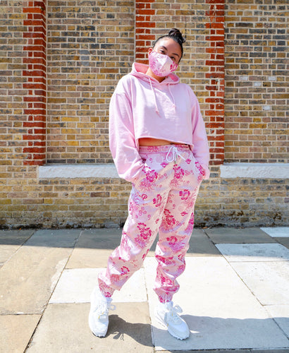 The 'Blossom' Pair - [Pairs UK] [jogging bottoms] [ are those pairs] [mike pairs] [sweatpants] [patterned sweatpants] [patterned pants]