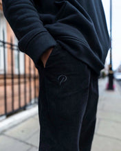 Load image into Gallery viewer, Black Corduroy - [Pairs UK] [jogging bottoms] [ are those pairs] [mike pairs] [sweatpants] [patterned sweatpants] [patterned pants]