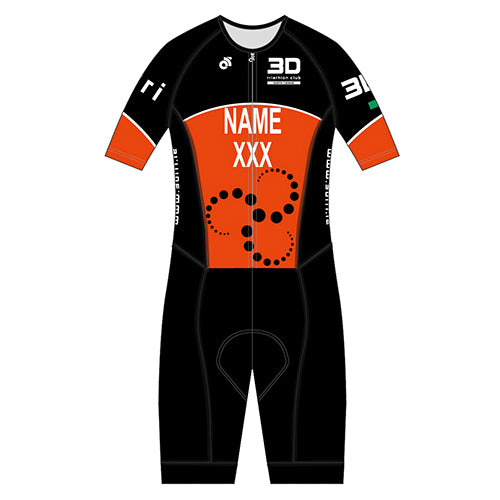 3D Performance Aero Tri Suit (Name & Country)