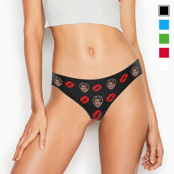 COUPLE WOMEN'S CUSTOM FACE COLORFUL PANTIES - KISS