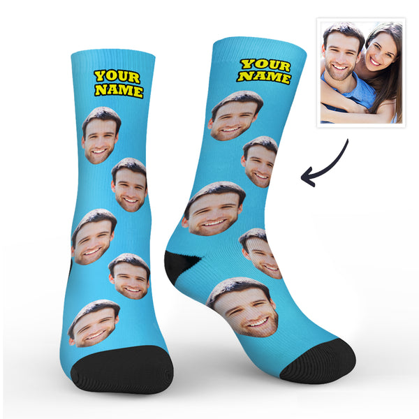 Custom Photo Socks With Your Text