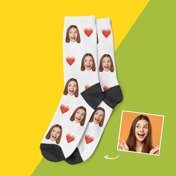 Custom Love Face Socks