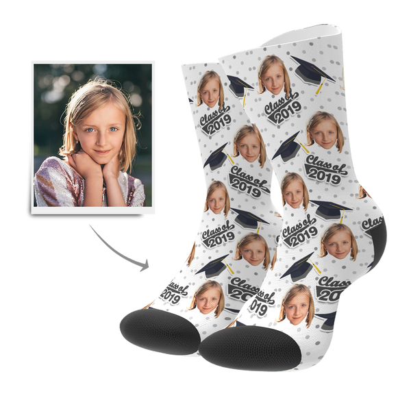Custom Grad Socks (Dots) - MyPhotoSocks
