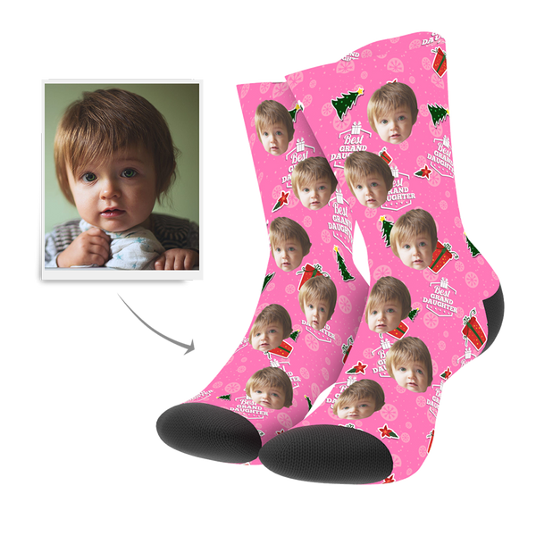 Custom Christmas Grand Daughter Socks
