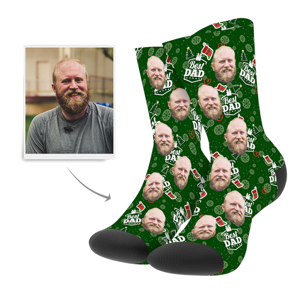 Custom Christmas Dad Socks