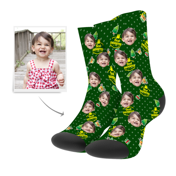 Custom Christmas Daughter Socks