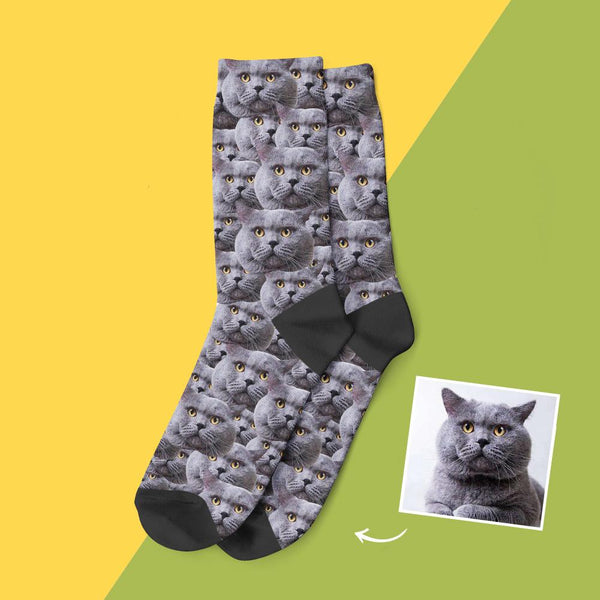 Custom Face Mash Lovely Cat Socks