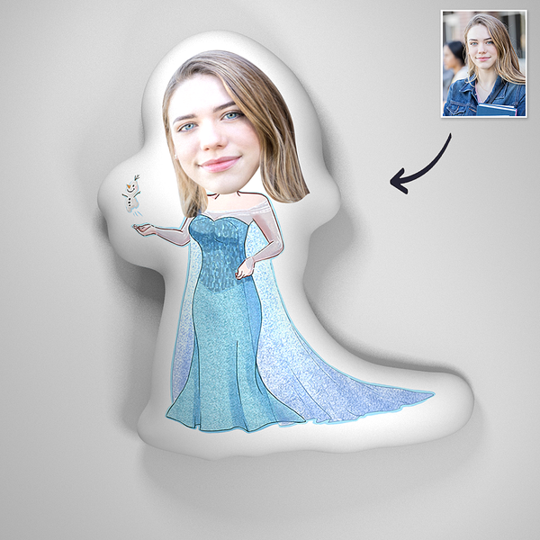 Custom 3D Portrait Pillow - Princess