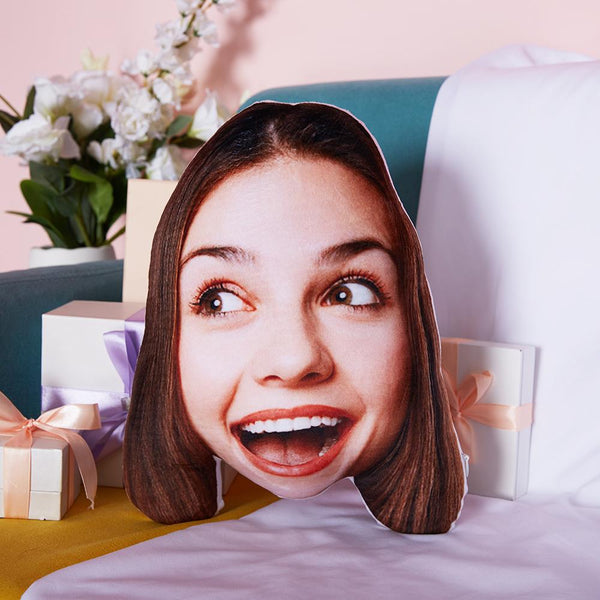 Custom Funny Girl Face Toy Pillow