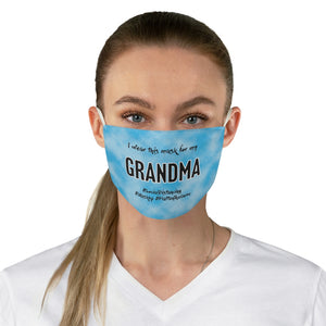 For My Grandma - Fabric Dedication Face Mask