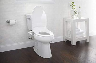 Kohler K-5724-0 Puretide Elongated Manual Bidet Toilet Seat, White With Quiet-Close Lid And Seat, Adjustable Spray Pressure And Position, Self-Cleaning Wand, No Batteries Or Electrical Outlet Needed