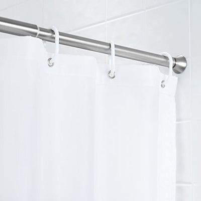 "AmazonBasics Rust Resistant Easy to Install Tension Shower Doorway Curtain Rod, 36-54"", Nickel"