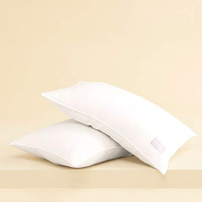Buffy Cloud Pillow - Hypoallergenic Eucalyptus Fabric - Pack of 2 - Standard Size - Firm