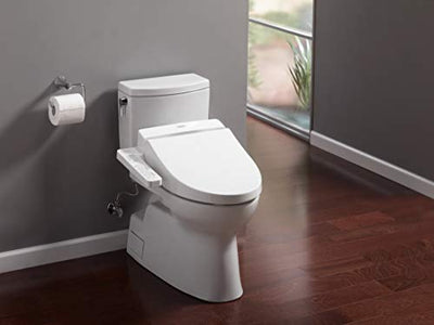 TOTO SW2034#01 C100 Electronic Bidet Toilet Cleansing Water, Heated Seat, Deodorizer, Warm Air Dryer, and PREMIST, Elongated, Cotton White
