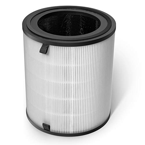 LEVOIT Air Purifier LV-H133 Replacement Filter, H13 True HEPA and Activated Carbon Filters Set, LV-H133-RF,white