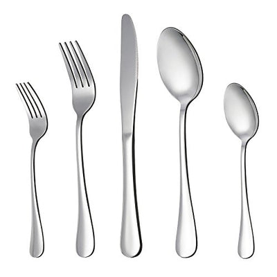 LIANYU 20-Piece Silverware Flatware Cutlery Set, Stainless Steel Utensils Service for 4, Include Knife/Fork/Spoon, Mirror Polished , Dishwasher Safe