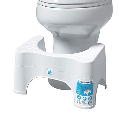"Squatty Potty The Original Bathroom Toilet Stool - Adjustable 2.0, Convertible to 7"" or 9"" Height, White"