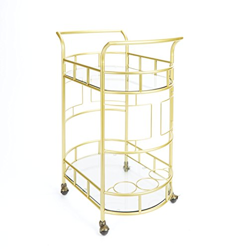 Silverwood FS1133B-COM Sinclair 2-Tier Serving Cart 2, 17