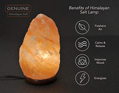 Authentic Natural Cut Soothing Himalayan Salt Lamp with Essential Oils Cup
