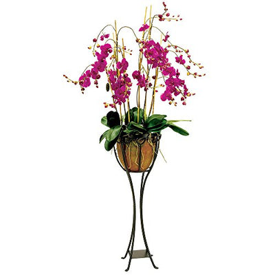Achla Designs VPS-04 Verandah Wrought Iron Displaying Pots, Metal Plant Stand, Graphite