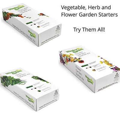 Window Garden - Herb Starter Kit - Grow Your Own Food. Germinate Seeds on Your Windowsill Then Move to a Patio Planter or Vegetable Patch. Mini Greenhouse System Make's it Foolproof, Easy and Fun.