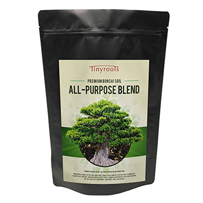 Bonsai Tree Soil - Two Quarts All-Purpose Blend Bonsai Soil Mix - Tinyroots 100% Organic - All Natural - Great for Any Bonsai Species - Genuine Akadama - Turface¨ FRIT Mineral Additives