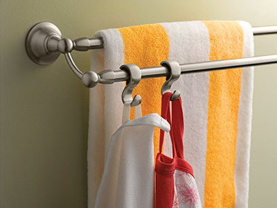 Moen DN6822BN Sage Collection 24-Inch Double Towel Bar, Spot Resist Brushed Nickel