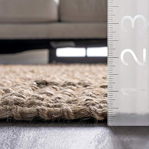 "nuLOOM Natura Collection Chunky Loop Jute Runner Rug, 2' 6"" x 8', Natural"