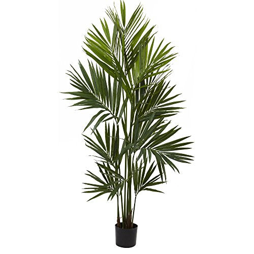 Nearly Natural 5462 Kentia Palm Silk Tree, 7',Green