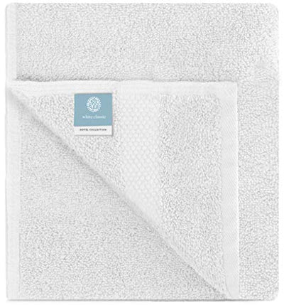 Luxury White Bath Towel Set - Combed Cotton Hotel Quality Absorbent 8 Piece Towels | 2 Bath Towels | 2 Hand Towels | 4 Washcloths [Worth $72.95] 8Pc | White