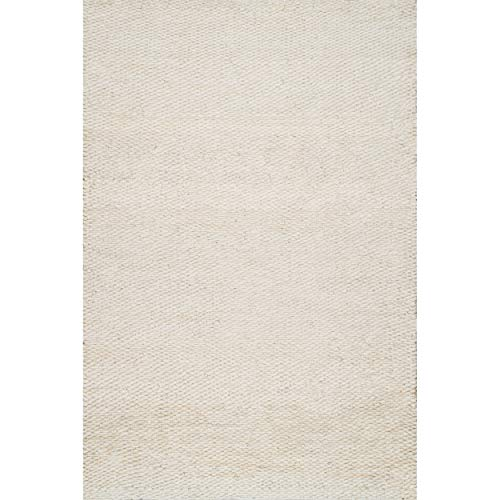 nuLOOM Hailey Handwoven Jute Rug, 3' x 5', Off-white