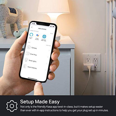 Kasa Smart Plug by TP-Link,Smart Home WiFi Outlet works with Alexa, Echo&Google Home, No Hub Required, Remote Control, 12 Amp, UL Certified, 2-Pack (HS103P2)