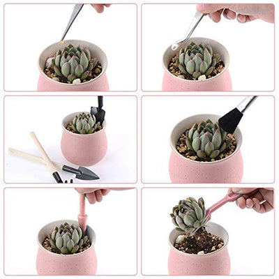 DINGJIN 1 Pcs Garden Kneelers Work Cloth Anti Dirty Gardening Transplanting Pot Pad with 11 Pieces Mini Garden Hand Transplanting Succulent Tools for Indoor Garden Plant Care