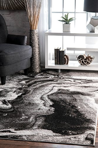 nuLOOM Abstract Area Rug, 4' x 6', Grey
